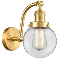 Innovations Lighting 515-1W-SG-G202-6-LED Beacon LED 6 inch Satin Gold Sconce Wall Light Franklin Restoration