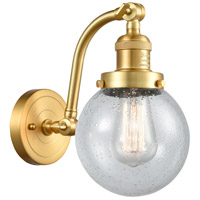Innovations Lighting 515-1W-SG-G204-6-LED Beacon LED 6 inch Satin Gold Sconce Wall Light Franklin Restoration