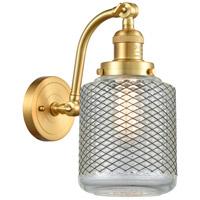 Innovations Lighting 515-1W-SG-G262 Stanton 1 Light 6 inch Satin Gold Sconce Wall Light Franklin Restoration