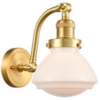 Innovations Lighting 515-1W-SG-G321-LED Olean LED 7 inch Satin Gold Sconce Wall Light Franklin Restoration