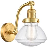 Innovations Lighting 515-1W-SG-G324 Olean 1 Light 7 inch Satin Gold Sconce Wall Light Franklin Restoration