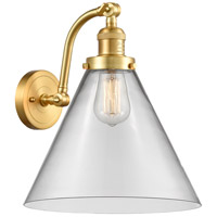 Innovations Lighting 515-1W-SG-G42-L X-Large Cone 1 Light 12 inch Satin Gold Sconce Wall Light Franklin Restoration