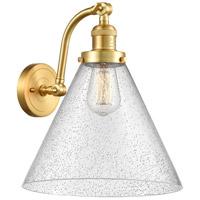 Innovations Lighting 515-1W-SG-G44-L X-Large Cone 1 Light 12 inch Satin Gold Sconce Wall Light Franklin Restoration