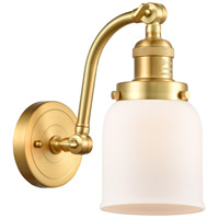 Innovations Lighting 515-1W-SG-G51-LED Small Bell LED 5 inch Satin Gold Sconce Wall Light Franklin Restoration