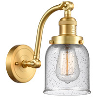 Innovations Lighting 515-1W-SG-G54-LED Small Bell LED 5 inch Satin Gold Sconce Wall Light Franklin Restoration