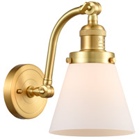 Innovations Lighting 515-1W-SG-G61-LED Small Cone LED 7 inch Satin Gold Sconce Wall Light Franklin Restoration
