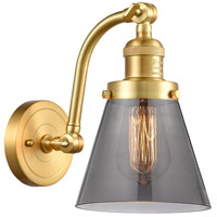 Innovations Lighting 515-1W-SG-G63 Small Cone 1 Light 7 inch Satin Gold Sconce Wall Light Franklin Restoration