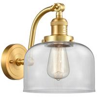 Innovations Lighting 515-1W-SG-G72-LED Large Bell LED 8 inch Satin Gold Sconce Wall Light Franklin Restoration