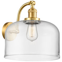 Innovations Lighting 515-1W-SG-G72-L X-Large Bell 1 Light 12 inch Satin Gold Sconce Wall Light Franklin Restoration