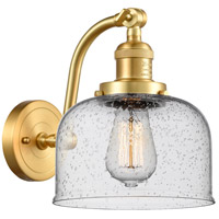 Innovations Lighting 515-1W-SG-G74-LED Large Bell LED 8 inch Satin Gold Sconce Wall Light Franklin Restoration