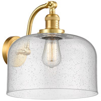 Innovations Lighting 515-1W-SG-G74-L X-Large Bell 1 Light 12 inch Satin Gold Sconce Wall Light Franklin Restoration