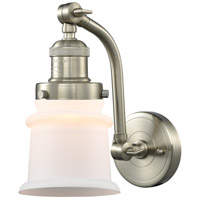 Innovations Lighting 515-1W-SN-G181S Small Canton 1 Light 7 inch Satin Nickel Sconce Wall Light Franklin Restoration