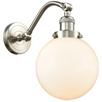 Innovations Lighting 515-1W-SN-G201-8 Large Beacon 1 Light 8 inch Brushed Satin Nickel Sconce Wall Light Franklin Restoration