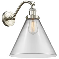 Innovations Lighting 515-1W-SN-G42-L-LED X-Large Cone LED 12 inch Brushed Satin Nickel Sconce Wall Light Franklin Restoration
