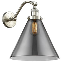 Innovations Lighting 515-1W-SN-G43-L X-Large Cone 1 Light 12 inch Brushed Satin Nickel Sconce Wall Light Franklin Restoration