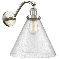 Innovations Lighting 515-1W-SN-G44-L X-Large Cone 1 Light 12 inch Brushed Satin Nickel Sconce Wall Light Franklin Restoration
