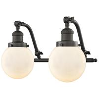Innovations Lighting 515-2W-OB-G201-6-LED Beacon LED 16 inch Oil Rubbed Bronze Bath Vanity Light Wall Light Franklin Restoration