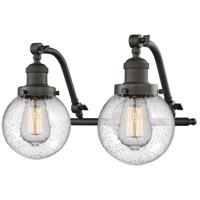 Innovations Lighting 515-2W-OB-G204-6-LED Beacon LED 16 inch Oil Rubbed Bronze Bath Vanity Light Wall Light Franklin Restoration