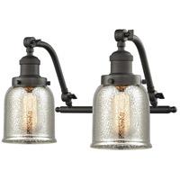 Innovations Lighting 515-2W-OB-G58 Small Bell 2 Light 18 inch Oil Rubbed Bronze Bath Vanity Light Wall Light Franklin Restoration