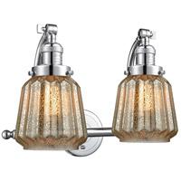 Innovations Lighting 515-2W-PC-G146 Chatham 2 Light 18 inch Polished Chrome Bath Vanity Light Wall Light Franklin Restoration