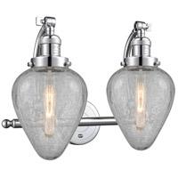Innovations Lighting 515-2W-PC-G165-LED Geneseo LED 18 inch Polished Chrome Bath Vanity Light Wall Light Franklin Restoration