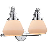 Polished Chrome Steel Fulton Wall Sconces