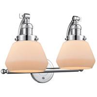 Innovations Lighting 515-2W-PC-G171-LED Fulton LED 18 inch Polished Chrome Bath Vanity Light Wall Light Franklin Restoration