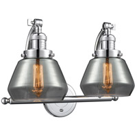 Innovations Lighting 515-2W-PC-G173 Fulton 2 Light 18 inch Polished Chrome Bath Vanity Light Wall Light Franklin Restoration