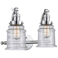 Innovations Lighting 515-2W-PC-G184 Canton 2 Light 18 inch Polished Chrome Bath Vanity Light Wall Light Franklin Restoration