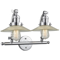 Polished Chrome Halophane Bathroom Vanity Lights