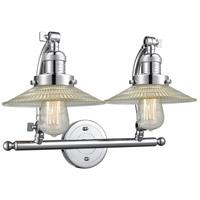 Innovations Lighting 515-2W-PC-G2 Halophane 2 Light 18 inch Polished Chrome Bath Vanity Light Wall Light Franklin Restoration