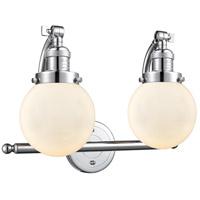 Innovations Lighting 515-2W-PC-G201-6 Beacon 2 Light 16 inch Polished Chrome Bath Vanity Light Wall Light Franklin Restoration