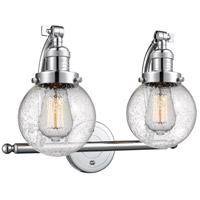 Innovations Lighting 515-2W-PC-G204-6 Beacon 2 Light 16 inch Polished Chrome Bath Vanity Light Wall Light Franklin Restoration