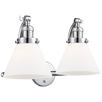 Innovations Lighting 515-2W-PC-G41 Large Cone 2 Light 18 inch Polished Chrome Bath Vanity Light Wall Light Franklin Restoration