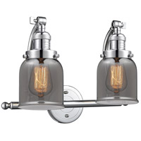 Innovations Lighting 515-2W-PC-G53 Small Bell 2 Light 18 inch Polished Chrome Bath Vanity Light Wall Light Franklin Restoration