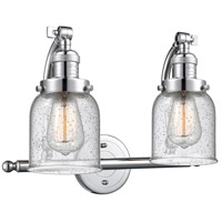 Innovations Lighting 515-2W-PC-G54 Small Bell 2 Light 18 inch Polished Chrome Bath Vanity Light Wall Light Franklin Restoration