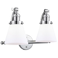 Innovations Lighting 515-2W-PC-G61 Small Cone 2 Light 18 inch Polished Chrome Bath Vanity Light Wall Light Franklin Restoration