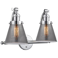 Innovations Lighting 515-2W-PC-G63 Small Cone 2 Light 18 inch Polished Chrome Bath Vanity Light Wall Light Franklin Restoration