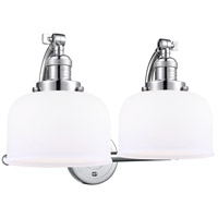 Innovations Lighting 515-2W-PC-G71 Large Bell 2 Light 18 inch Polished Chrome Bath Vanity Light Wall Light Franklin Restoration
