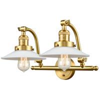 Innovations Lighting 515-2W-SG-G1-LED Halophane LED 18 inch Satin Gold Bath Vanity Light Wall Light Franklin Restoration
