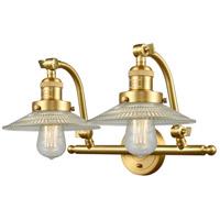Innovations Lighting 515-2W-SG-G2-LED Halophane LED 18 inch Satin Gold Bath Vanity Light Wall Light Franklin Restoration