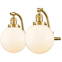 Innovations Lighting 515-2W-SG-G201-8-LED Large Beacon LED 18 inch Satin Gold Bath Vanity Light Wall Light Franklin Restoration