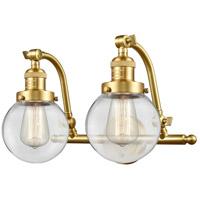 Innovations Lighting 515-2W-SG-G202-6-LED Beacon LED 16 inch Satin Gold Bath Vanity Light Wall Light Franklin Restoration
