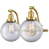 Innovations Lighting 515-2W-SG-G202-8-LED Large Beacon LED 18 inch Satin Gold Bath Vanity Light Wall Light Franklin Restoration