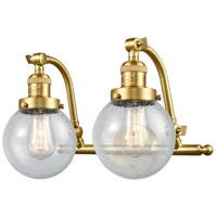 Innovations Lighting 515-2W-SG-G204-6-LED Beacon LED 16 inch Satin Gold Bath Vanity Light Wall Light Franklin Restoration