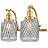 Innovations Lighting 515-2W-SG-G262 Stanton 2 Light 18 inch Satin Gold Bath Vanity Light Wall Light Franklin Restoration