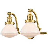 Innovations Lighting 515-2W-SG-G321-LED Olean LED 19 inch Satin Gold Bath Vanity Light Wall Light Franklin Restoration