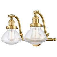 Innovations Lighting 515-2W-SG-G322-LED Olean LED 19 inch Satin Gold Bath Vanity Light Wall Light Franklin Restoration