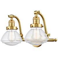 Innovations Lighting 515-2W-SG-G324 Olean 2 Light 19 inch Satin Gold Bath Vanity Light Wall Light Franklin Restoration