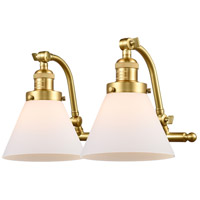 Innovations Lighting 515-2W-SG-G41-LED Large Cone LED 18 inch Satin Gold Bath Vanity Light Wall Light Franklin Restoration
